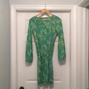 Lilly Pulitzer Green Flower Long Sleeve Dress